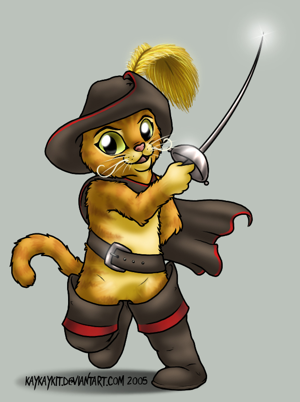 617x827 Puss In Boots By Kaykaykit