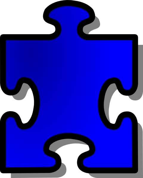480x594 Blue Jigsaw Puzzle Piece Clip Art Free Vector In Open Office