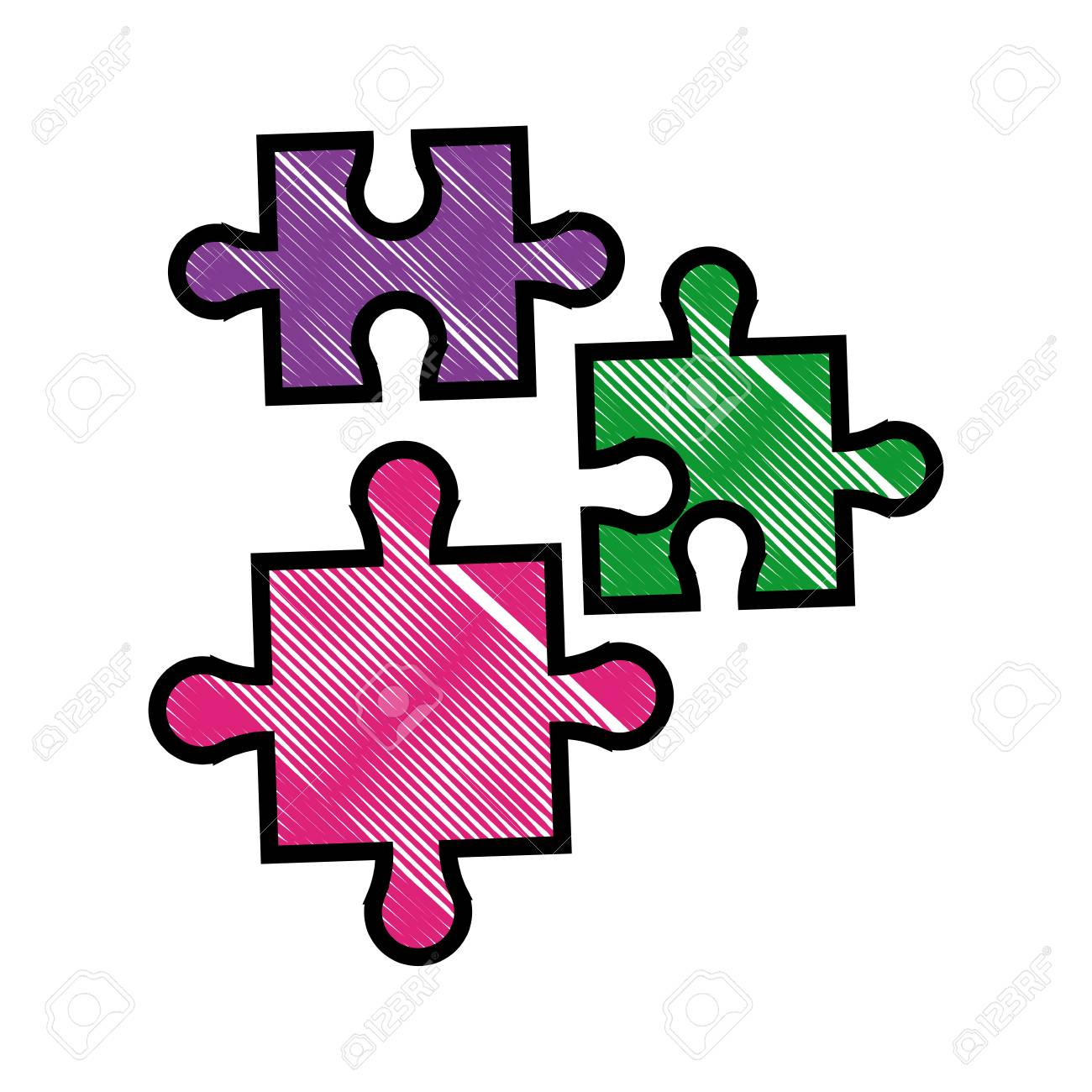 1300x1300 Drawing Puzzle Pieces Object Shape Work Vector Illustration