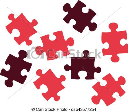 450x393 Red Puzzle Pieces Clipart Vector