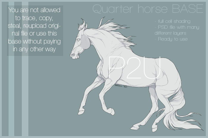 700x466 Quarter Horse Base 02 By Horraw X