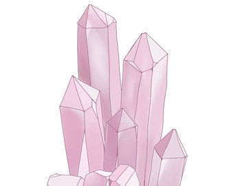340x270 Crystals Drawing Etsy
