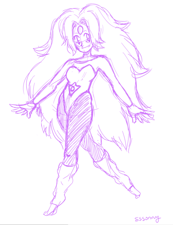 600x777 Rainbow Quartz Sketch By Sssonny