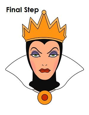 300x388 How To Draw The Evil Queen Draw Evil Queens