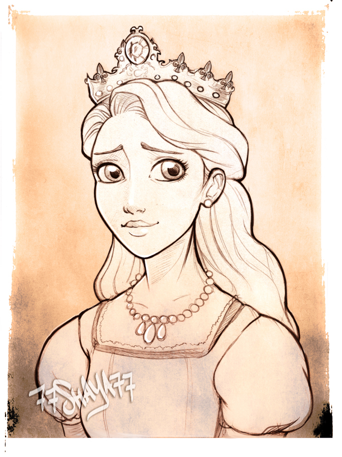 673x900 Rapunzel's Mother, The Queen +sketch+ By 77shaya77