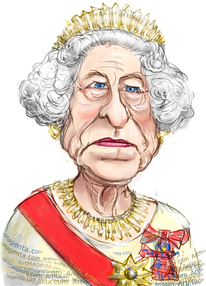 Line Drawing Of Queen Elizabeth Ii : Queen elizabeth drawing at getdrawings free for