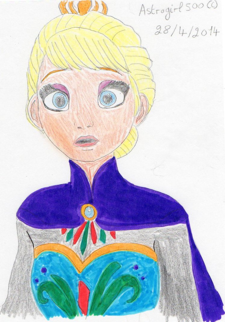 748x1068 Queen Elsa Drawing By Astrogirl500
