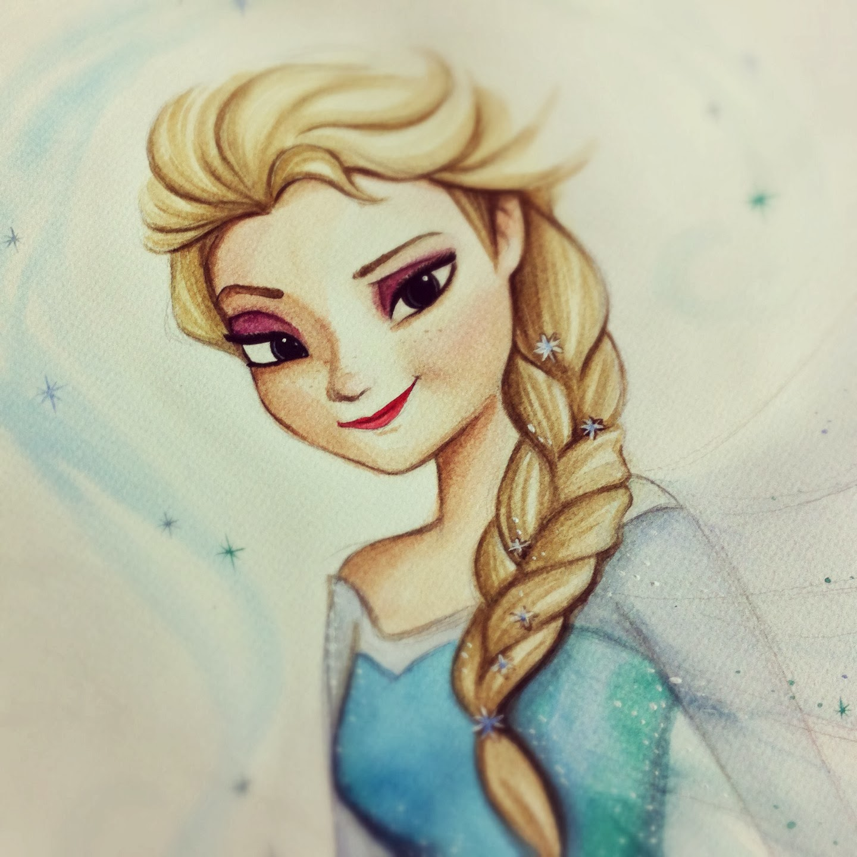 1440x1440 Elsa Frozen Painting Queen Elsa, Disney Frozen.