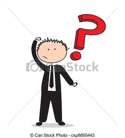 426x470 Businessman Drawing. Busimessman Drawing With Question Mark