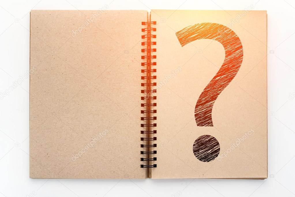 1023x682 Open Vintage Recycle Sketchbook And Drawing Of Question Mark.jpg