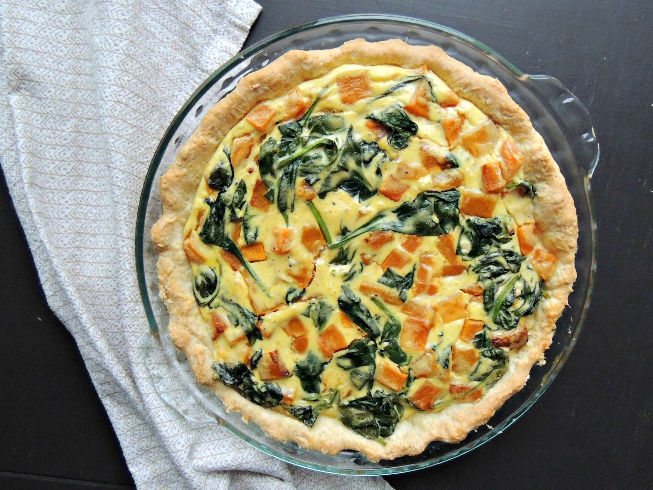 2127x1597 Butternut Squash Spinach And Goat Cheese Pie {Gluten Free