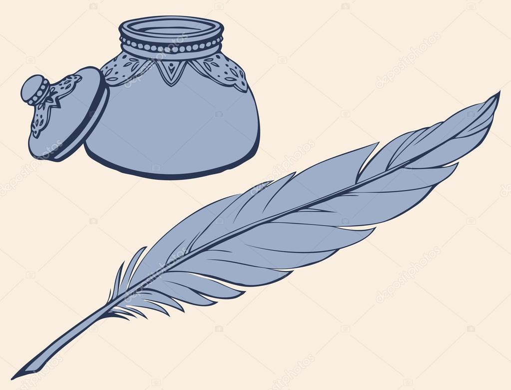 Line Drawing Of Quill : Quill and ink drawing at getdrawings free for personal use