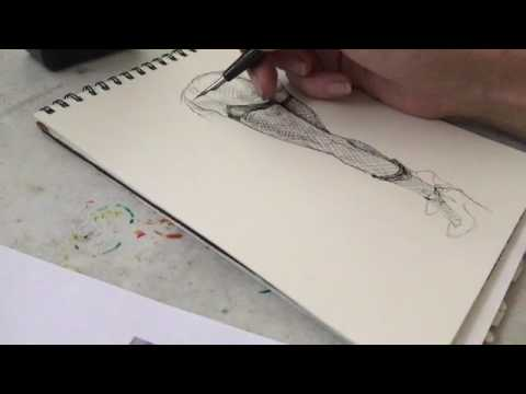 480x360 Nsfw Nude Ink Drawing With Dip Pen Crow Quill Nib And Holder By