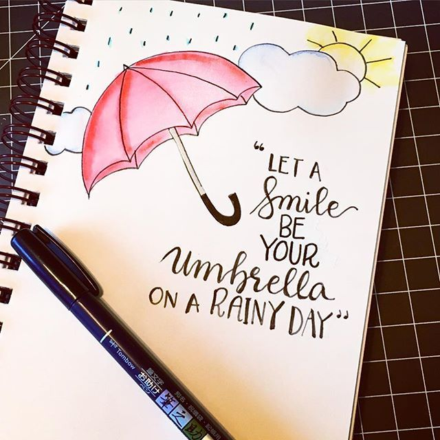 640x640 Pretty Quote With Some Draws Let Smile Be Your Umbrella On
