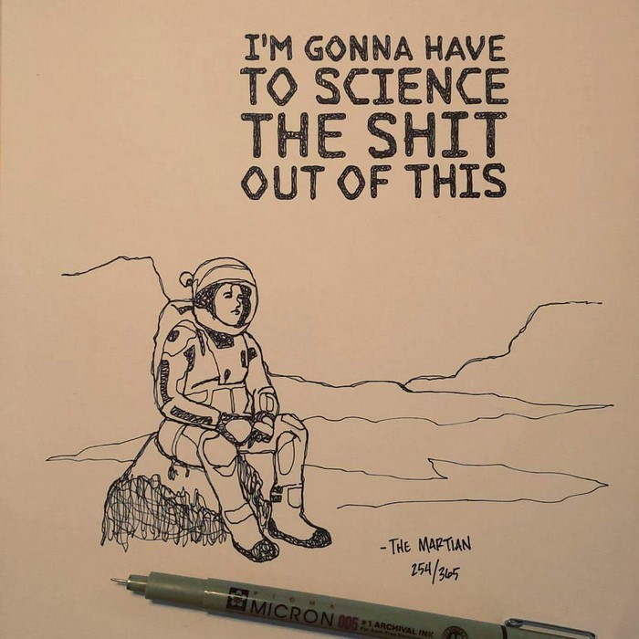 700x700 Artist Spends 365 Days Hand Drawing 365 Movie Quotes Bored Panda