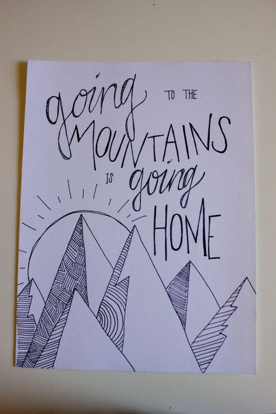 570x855 Mountains Quote Drawing. Check Out The New Etsy Store So Your