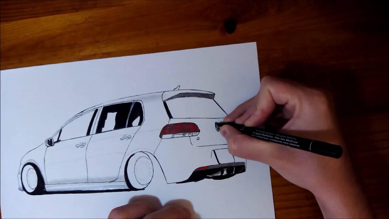 1280x720 Drawing Golf Mk6 R Stance Danib