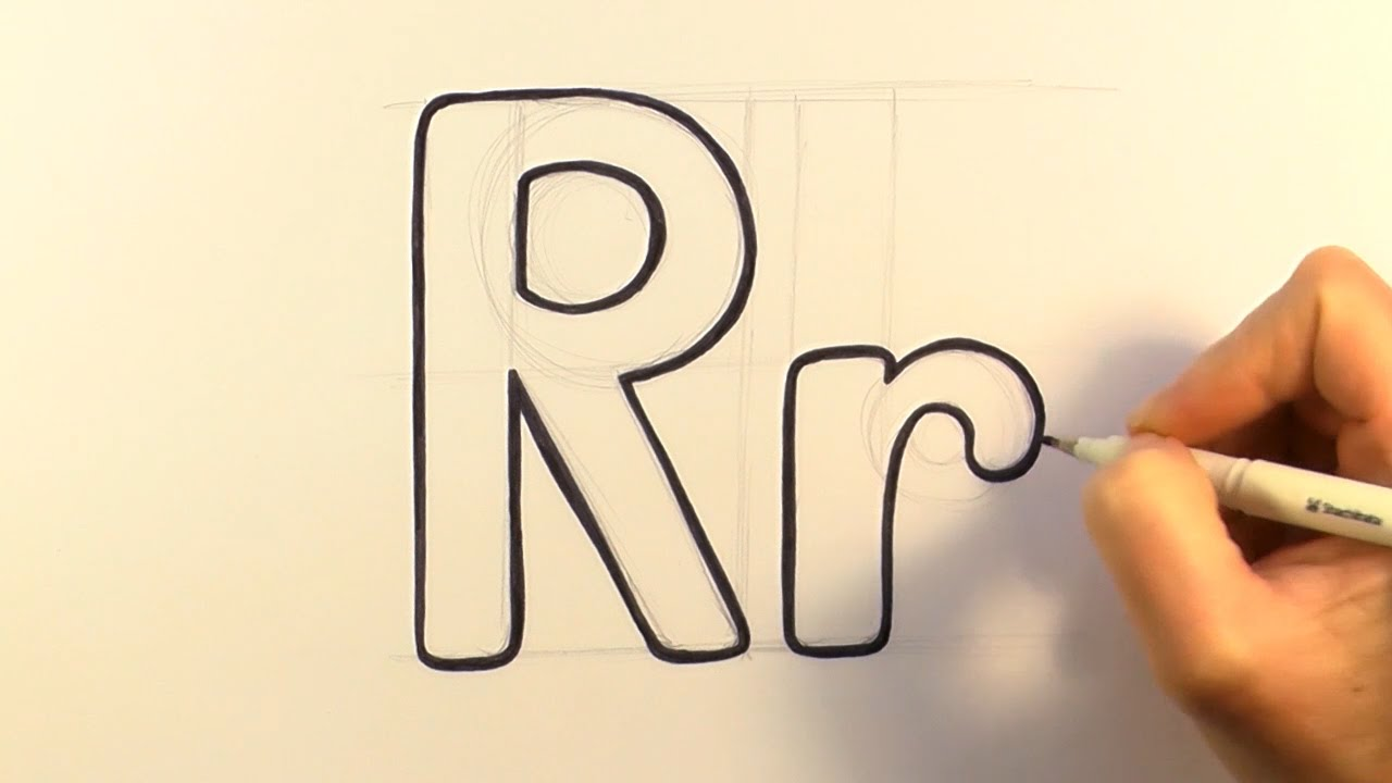 1280x720 How To Draw A Cartoon Letter R And R