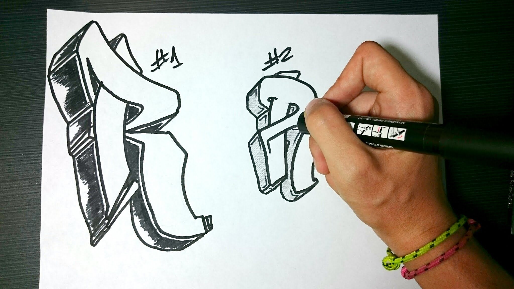 2048x1152 How To Draw Graffiti Letter R On Paper