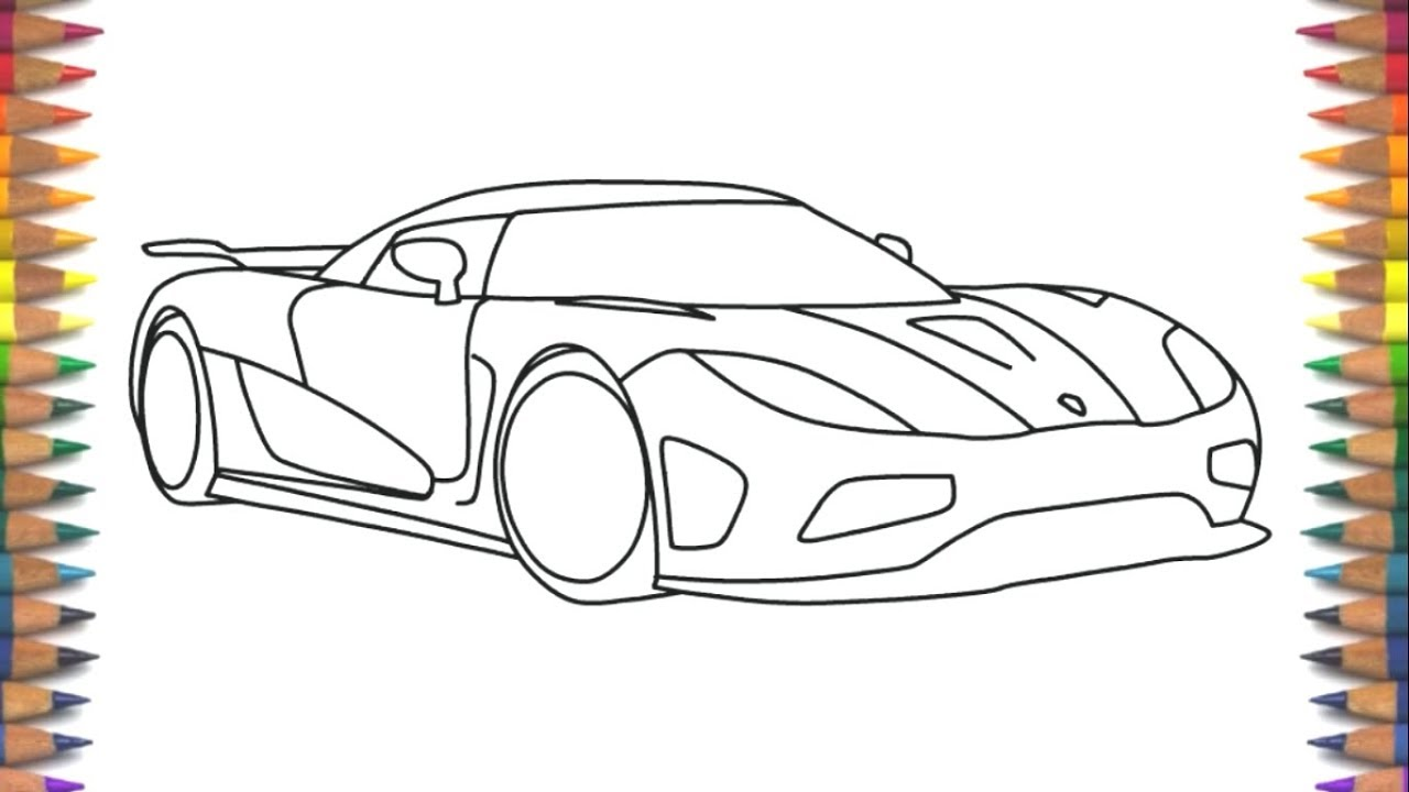 1280x720 How To Draw Koenigsegg Agera R Step By Step