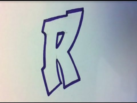 480x360 How To Draw Graffiti Alphabet Letters R