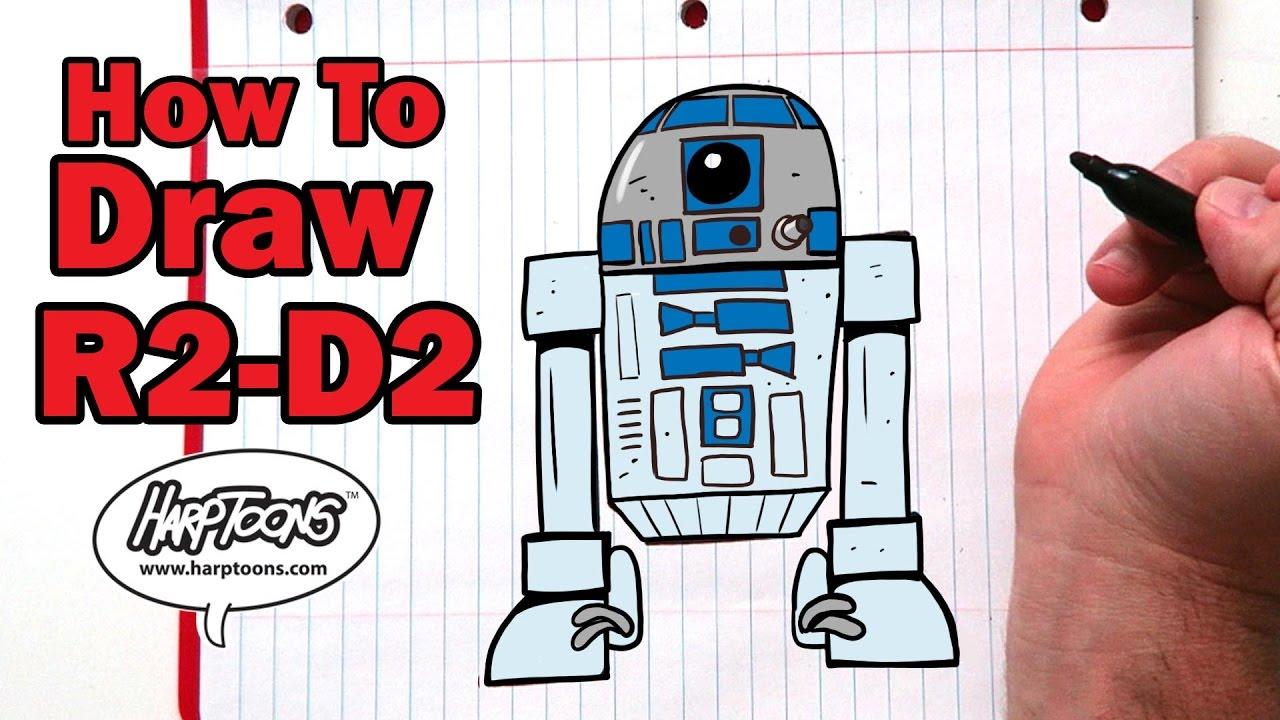 1280x720 Draw An Easy R2 D2