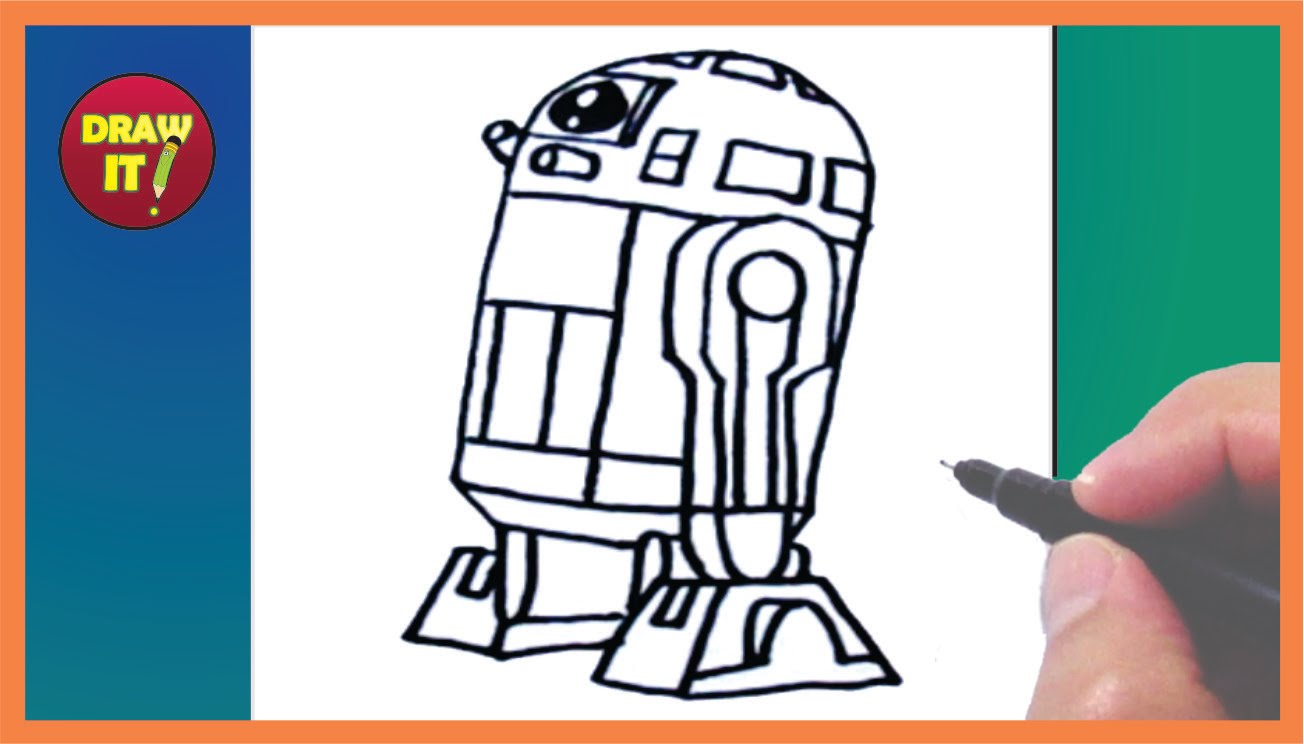 1304x744 How To Draw R2 D2 Star Wars