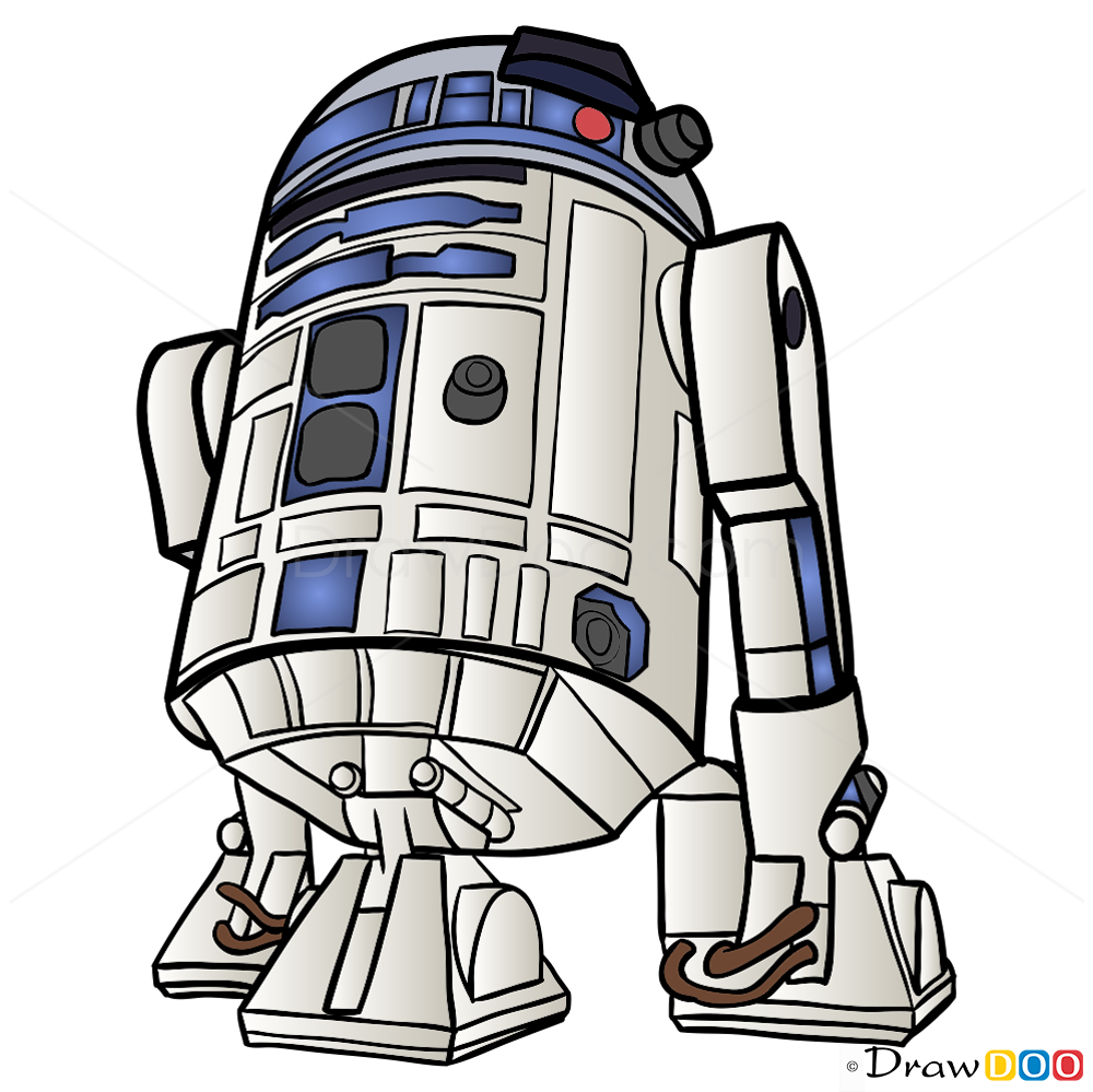 1000x999 How To Draw R2 D2, Star Wars