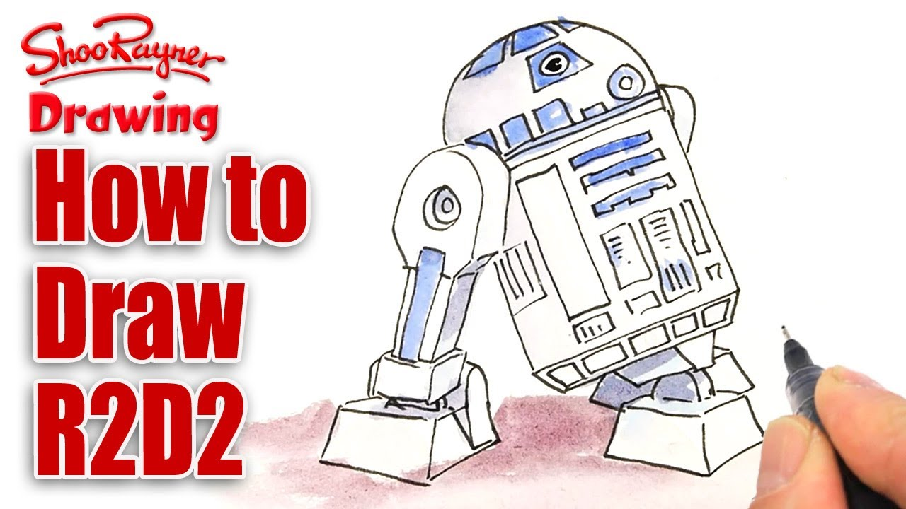 1280x720 How To Draw R2d2 For Star Wars Day