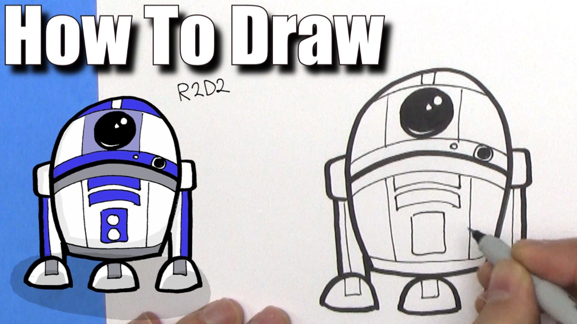 1920x1080 Star Wars Cartoon Drawing How To Draw Cute Cartoon R2d2 Droid