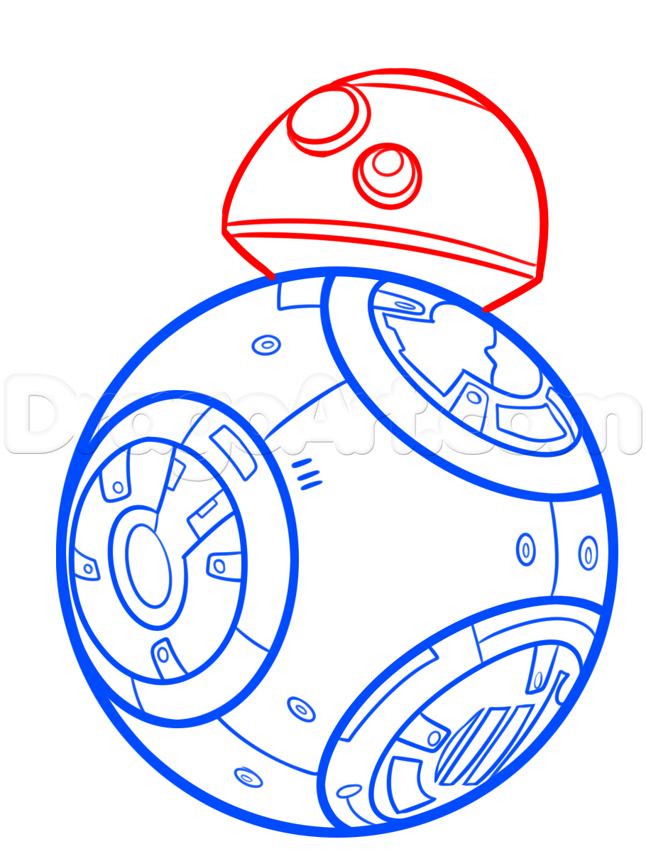 910x1202 How To Draw Bb 8 Step 5 Holiday Party Bb, Star And Bb8