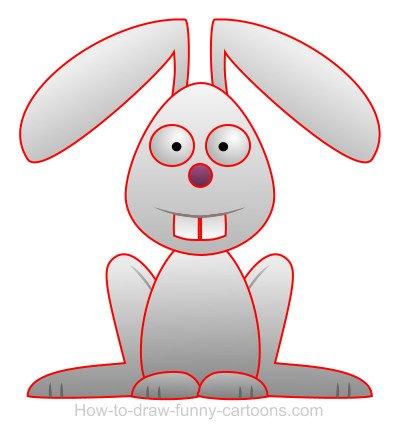 400x438 Drawing A Rabbit Cartoon