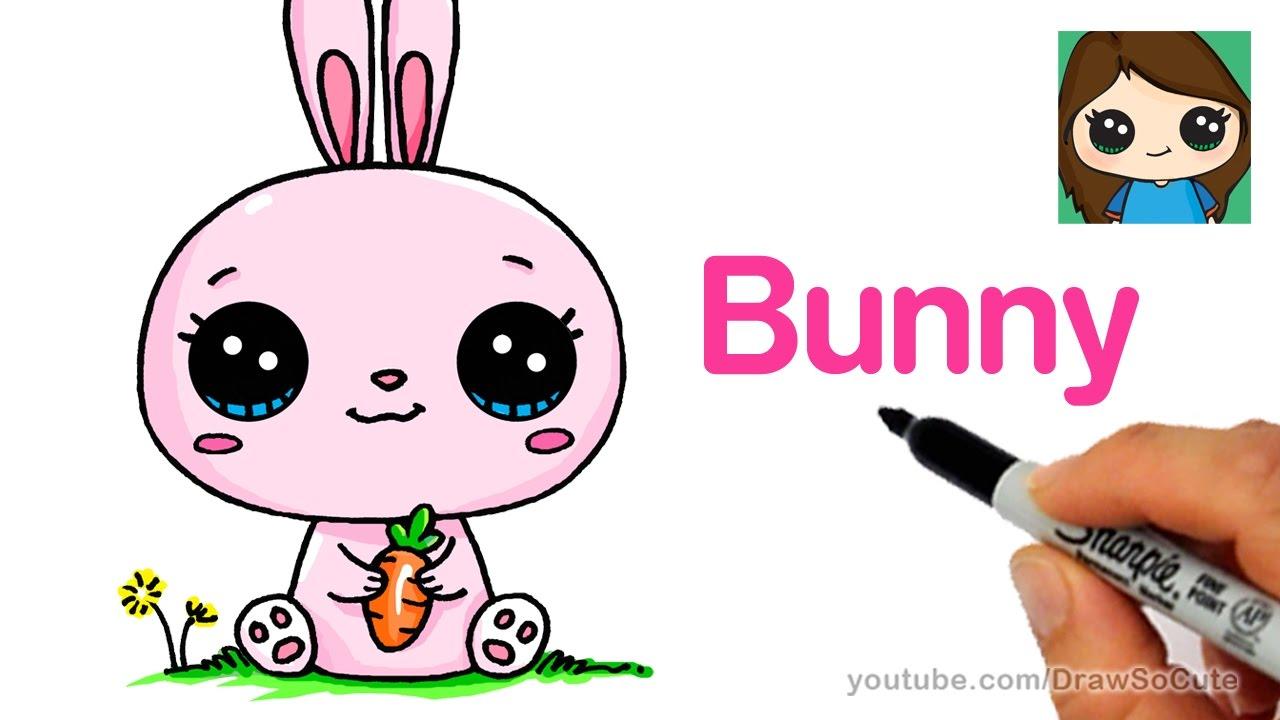 1280x720 How To Draw A Cartoon Bunny Rabbit Easy
