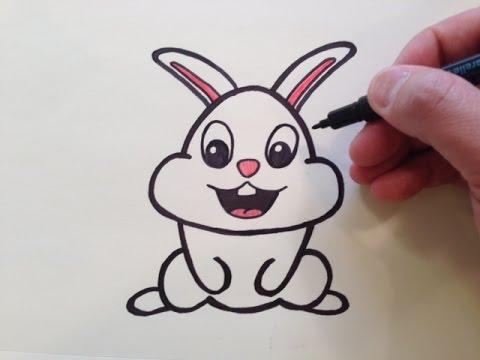 480x360 How To Draw A Cute Cartoon Bunny Rabbit