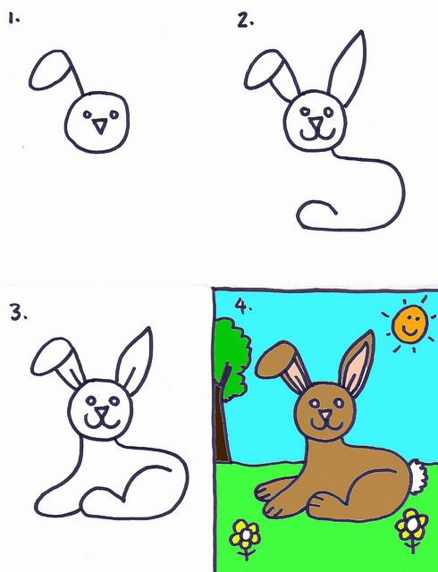 490x640 How To Draw A Bunny Rabbit By Stushie Art For Kids