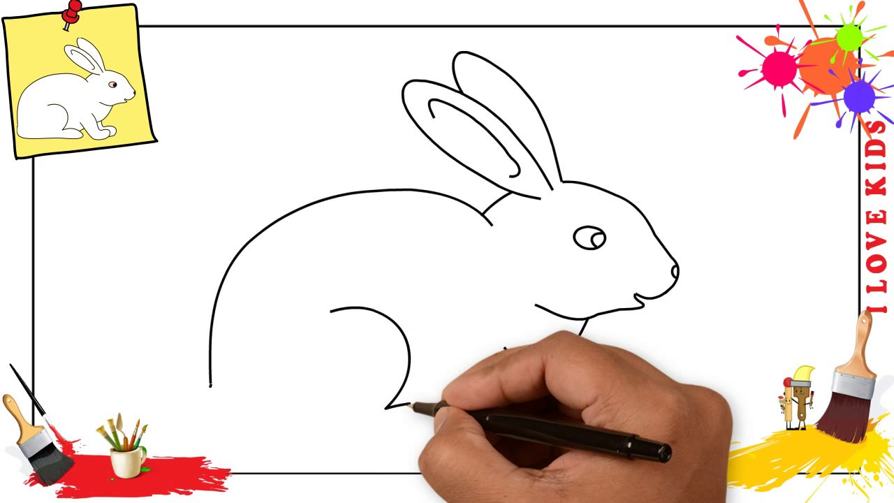 1280x720 How To Draw A Rabbit Simple Amp Easy Step By Step For Kids