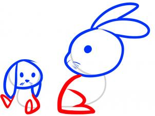 302x227 How To Draw How To Draw Rabbits For Kids