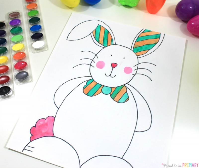 800x677 Easter Bunny Directed Drawing