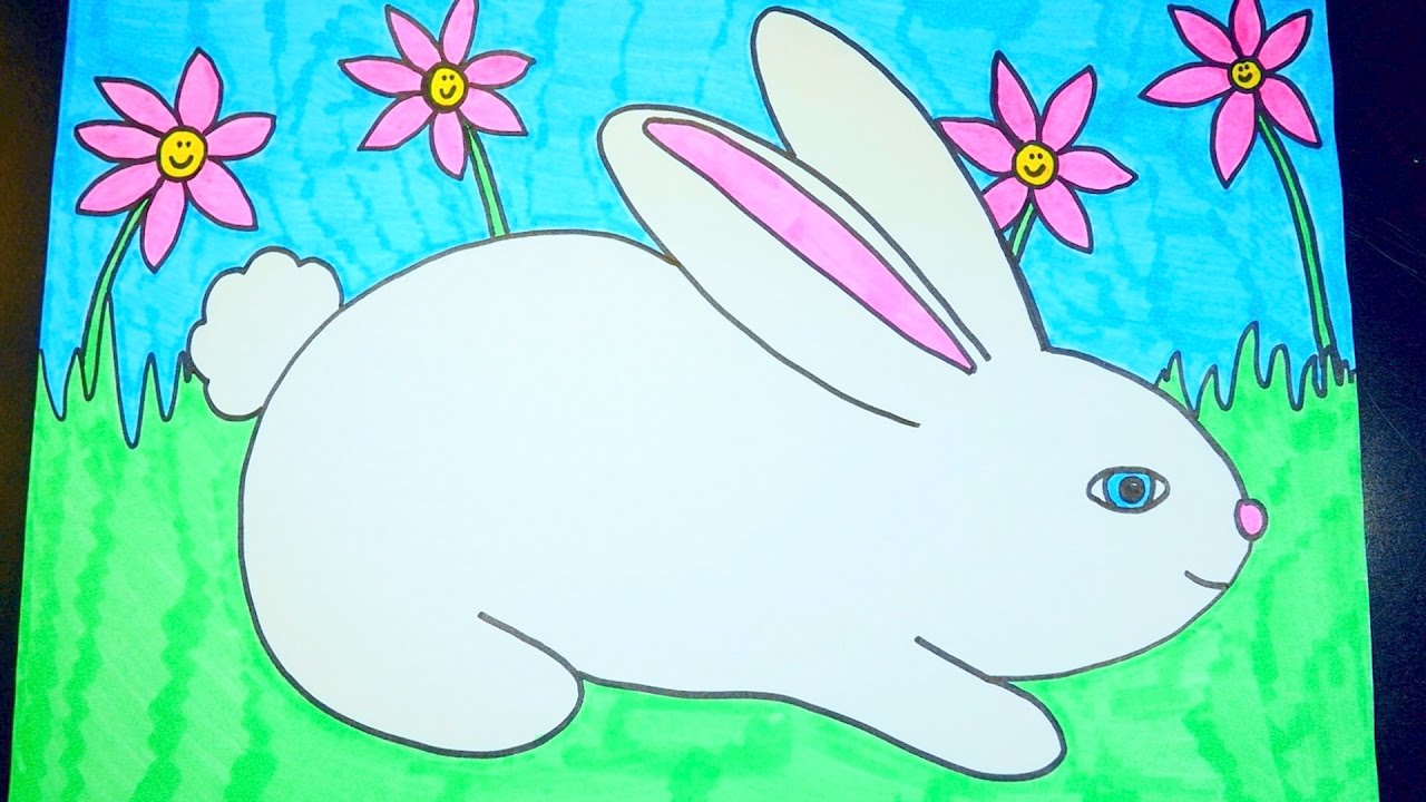 1280x720 How To Draw A Rabbit ~ Easter Videos For Kids