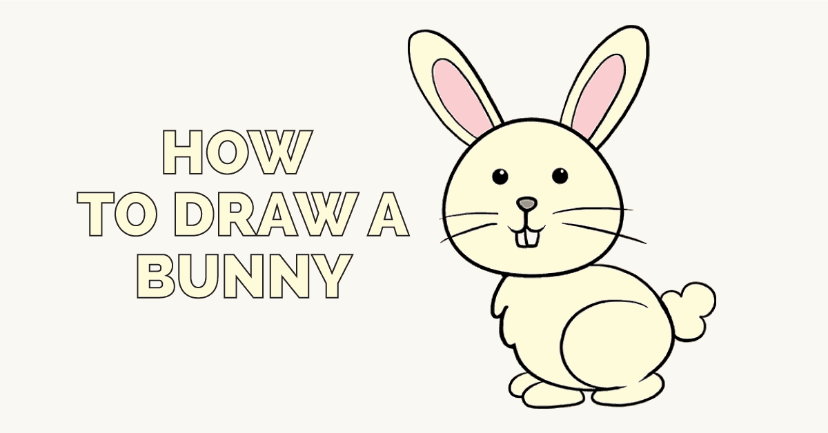 1200x628 How To Draw A Bunny Really Easy Drawing Tutorial Easy Drawing