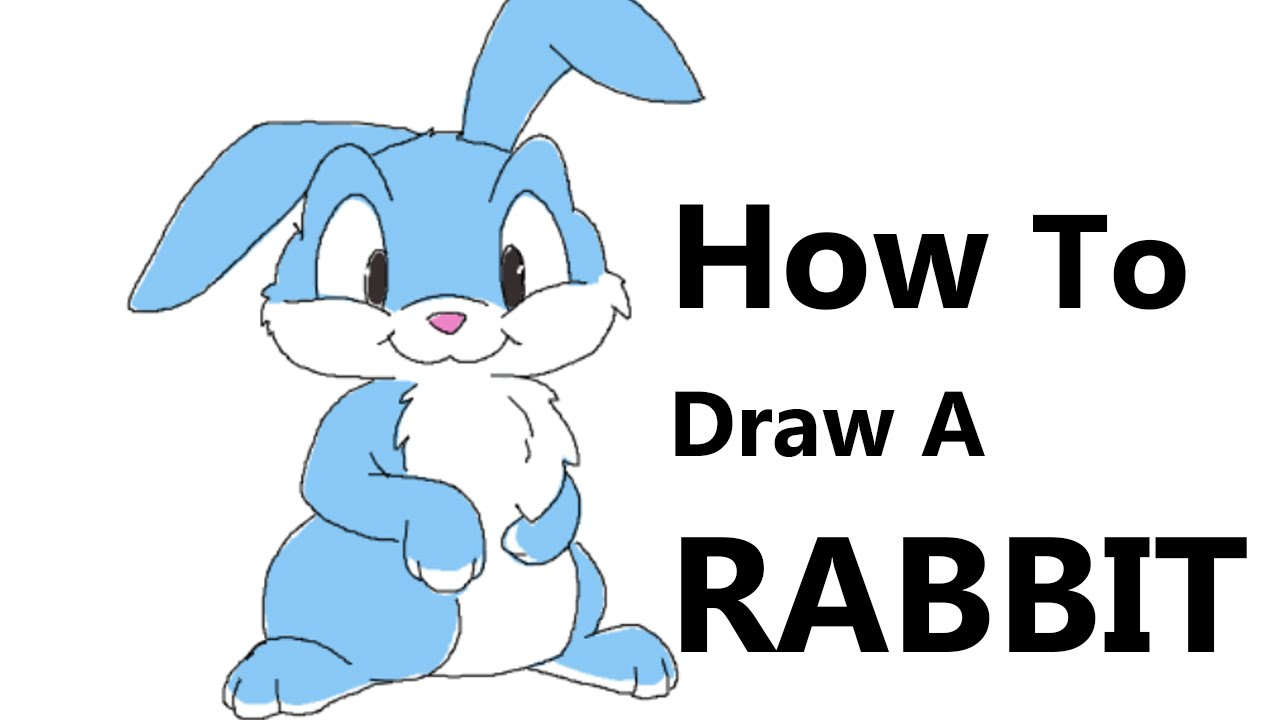 1280x720 Drawing Rabbit Step By Step How To Draw A Rabbit Stepstep