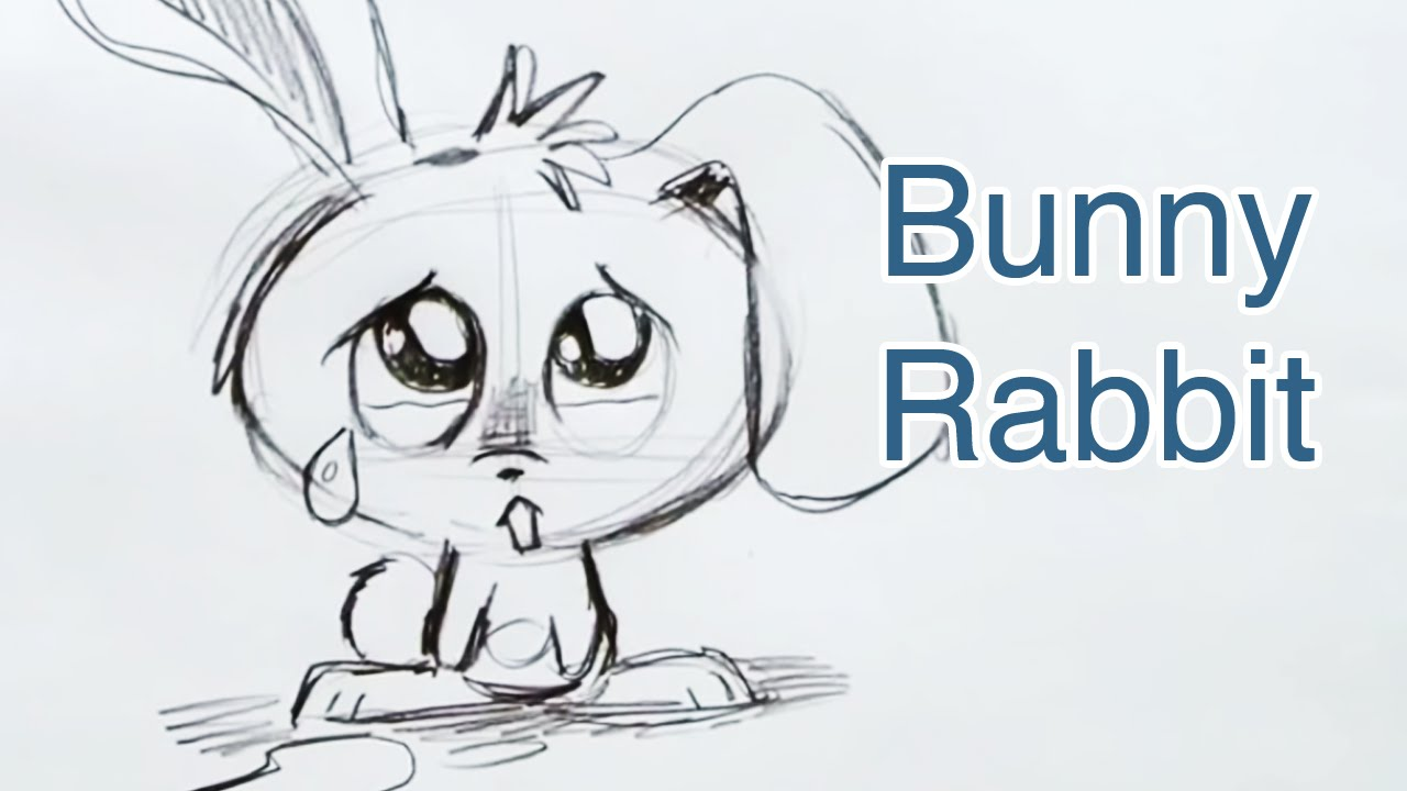 1280x720 How To Draw A Bunny Rabbit (Step By Step)