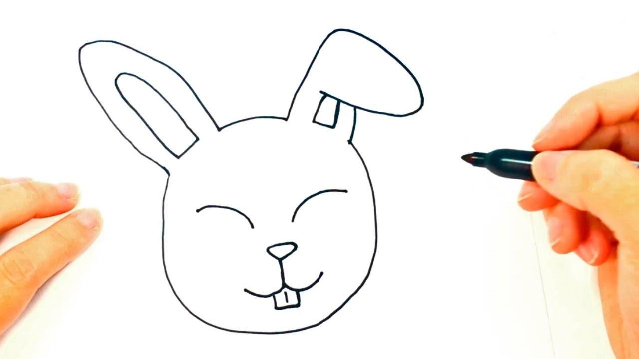 1280x720 How To Draw A Rabbit Rabbit Head Easy Draw Tutorial