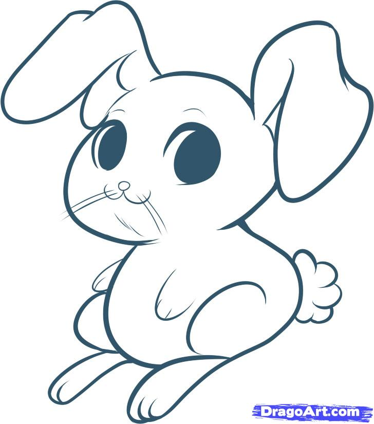 728x825 How To Draw An Easy Bunny Coloring Adult Easy