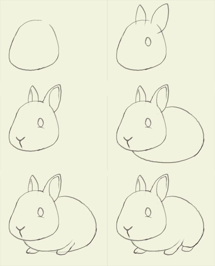 700x865 Rabbit Craft A Rabbit Rabbit, Drawings And Doodles