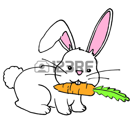 450x450 452 Rabbit Eating Carrot Stock Illustrations, Cliparts And Royalty
