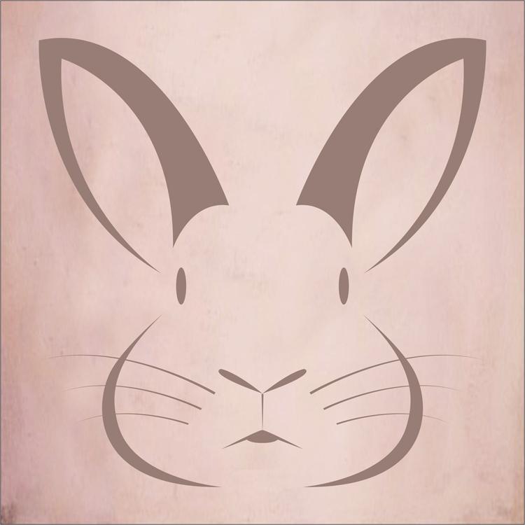 750x750 Bunny Rabbit Face