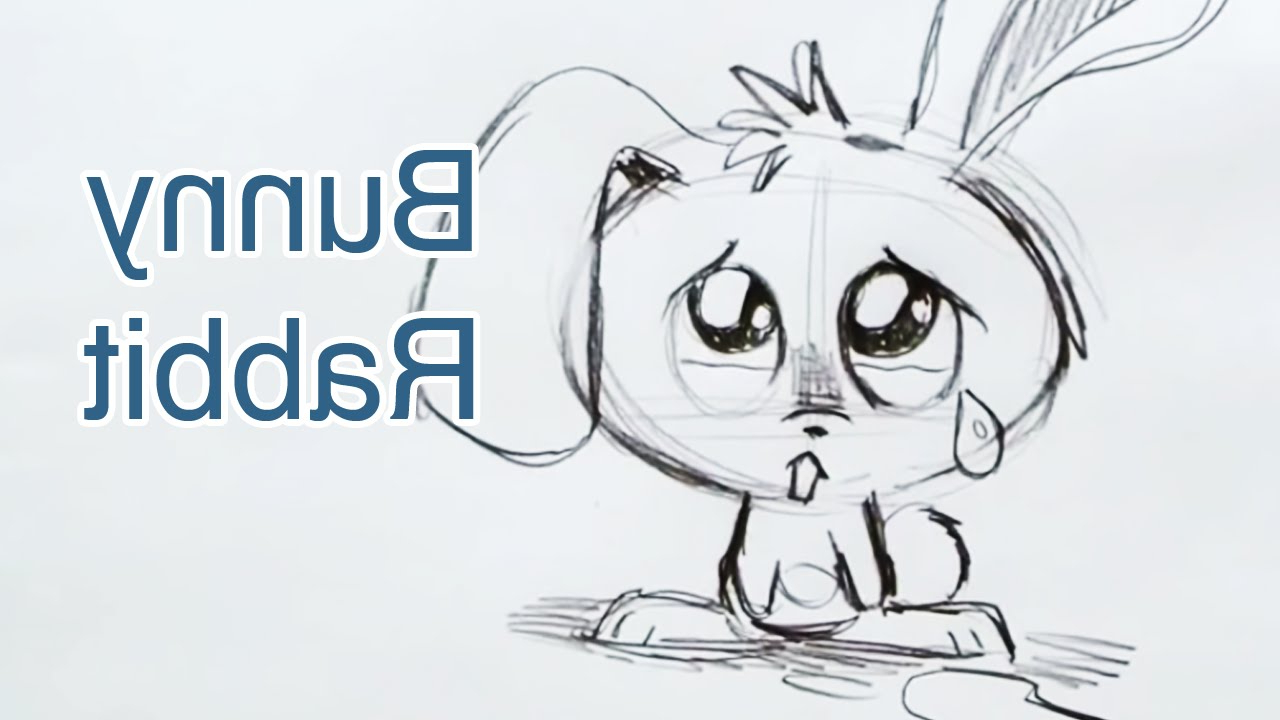 1280x720 Rabbit Face 3d Line Drawing How To Draw A Bunny Rabbit (Step By