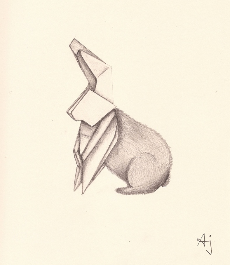 90 Origami Rabbit Drawing Origami Diagram Of Rabbit Face A Square