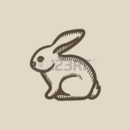 450x450 Rabbit Sketch Icon Set For Web, Mobile And Infographics. Hand